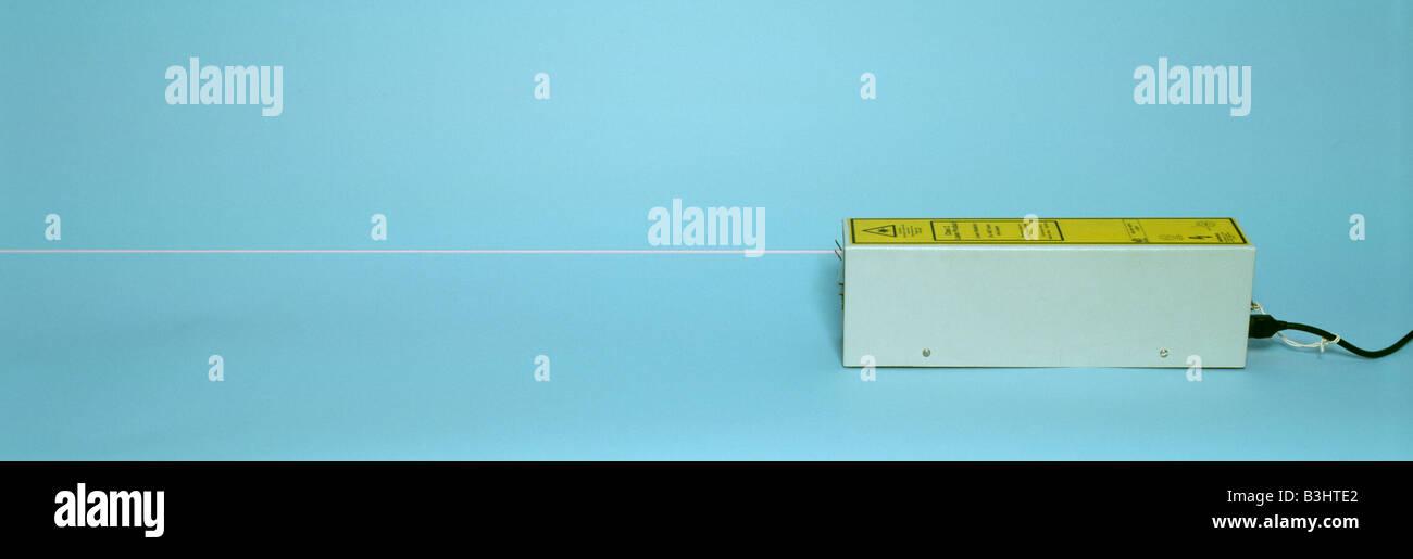 laboratory laser and beam Stock Photo
