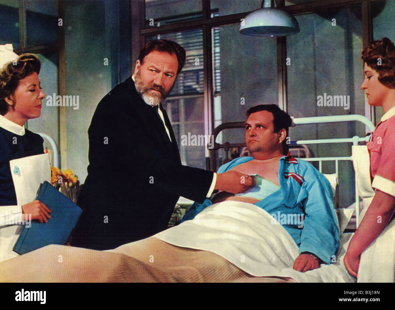 DOCTOR IN DISTRESS 1963 Rank film with James Robertson Justice - Stock Image