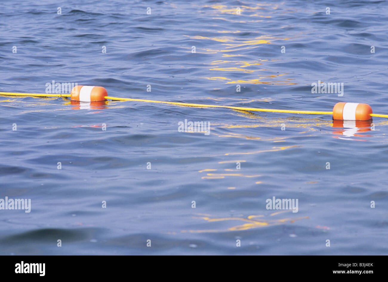 2 Two Orange And White Swim Lane Marker Buoy Floats With