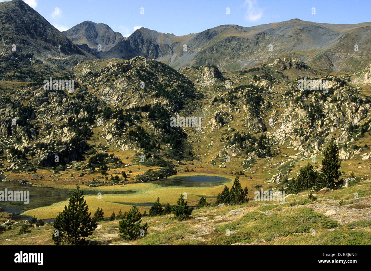 Massif of Carlit range in the Pyrenees-Orientales, France - Stock Image