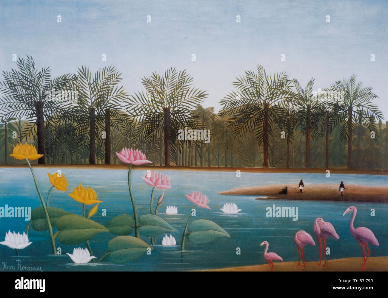 The Flamingos by Henri Rousseau 1907 - Stock Image