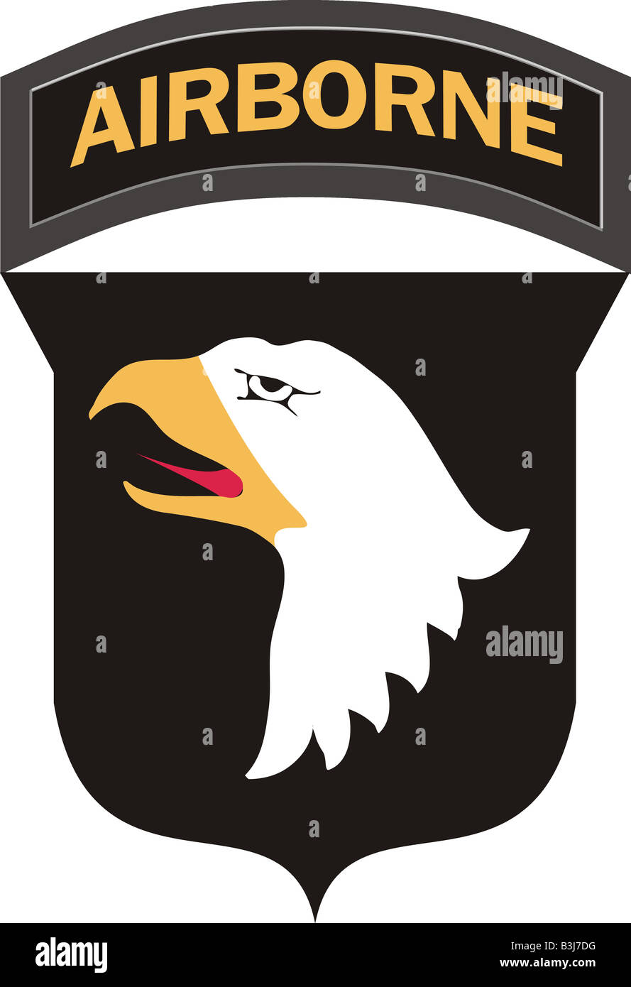 101st Airborne Division shoulder sleeve insignia Screaming Eagles - Stock Image