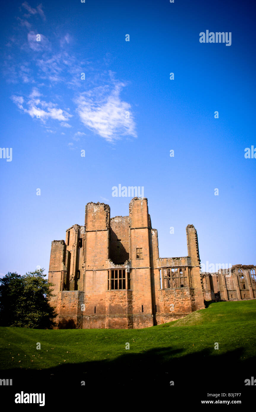Kenilworth Castle on a summer's day. Photo shows Leicester's Building - Stock Image