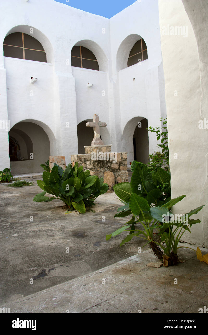 San Antonio de Padua Convent (St Anthony of Padua Convent), Izamal, Yucatan Peninsular, Mexico Stock Photo