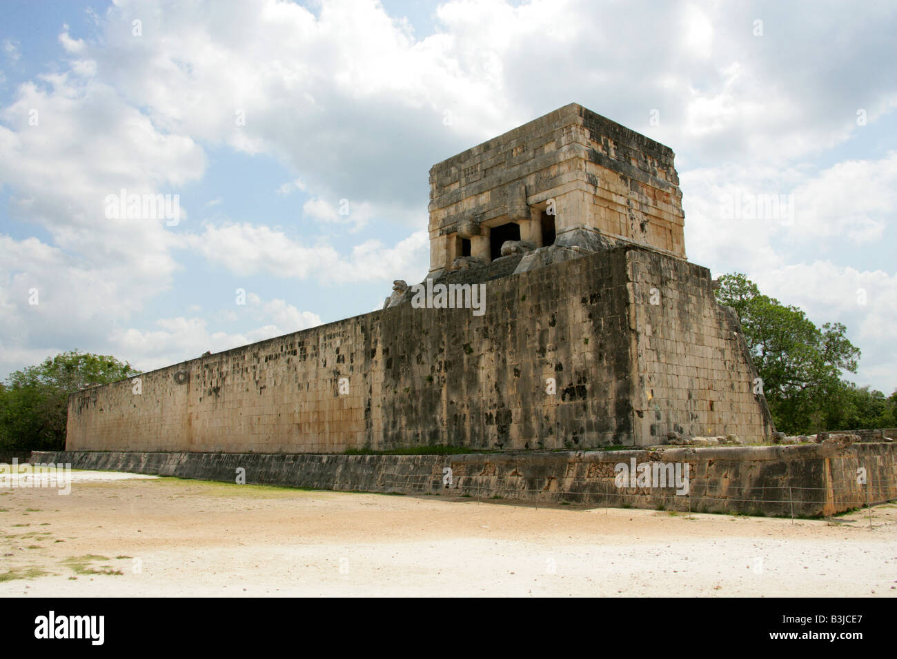 Great Ballcourt, Juego Pelota, Chichen Itza, Yucatan Peninsular, Mexico - Stock Image