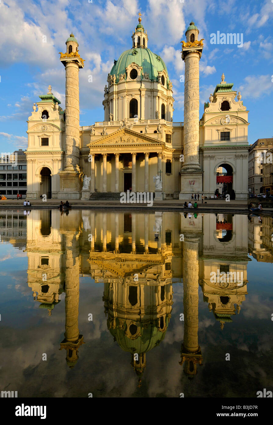 Karls Kirche, Karlskirche, St Charles' Church, Vienna, Austria - Stock Image