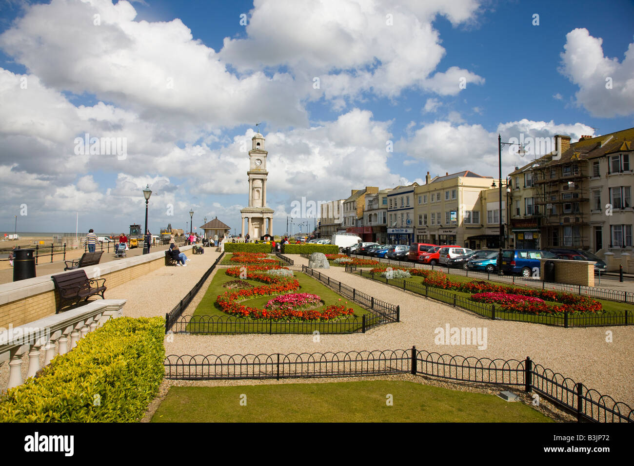 Town centre and public formal gardens in herne bay kent stock photo 19466918 alamy for Kent gardens elementary school