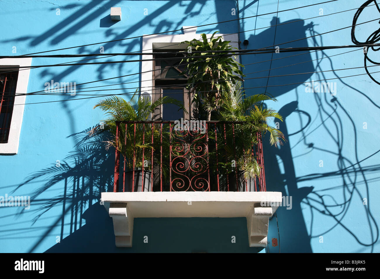 Colonial House in the Zona Colonial of Santo Domingo, Dominican Republic - Stock Image