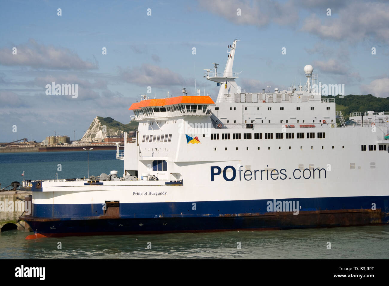 P&O Channel Ferry in the port of Dover, Great Britain, Europe Stock Photo