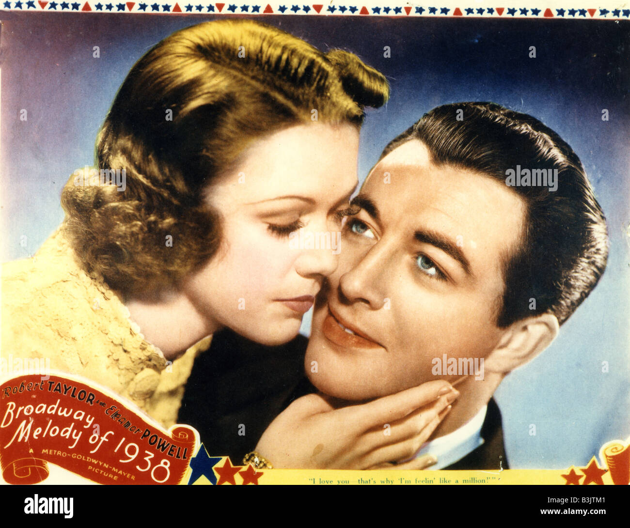 BROADWAY MELODY OF 1938  - 1937 film with Eleanor Powell and George Murphy - Stock Image