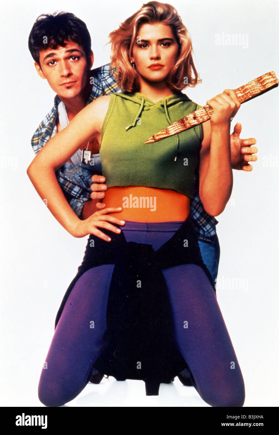 BUFFY THE VAMPIRE SLAYER 1992 TCF film with Kristy Swanson and Luke Perry - Stock Image