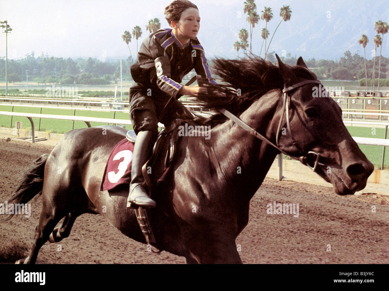 THE BLACK STALLION 1980 UA film with Kelly Reno - Stock Image