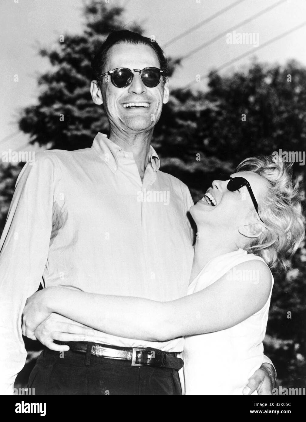 MARILYN MONROE  with 3rd husband Arthur Miller - Stock Image