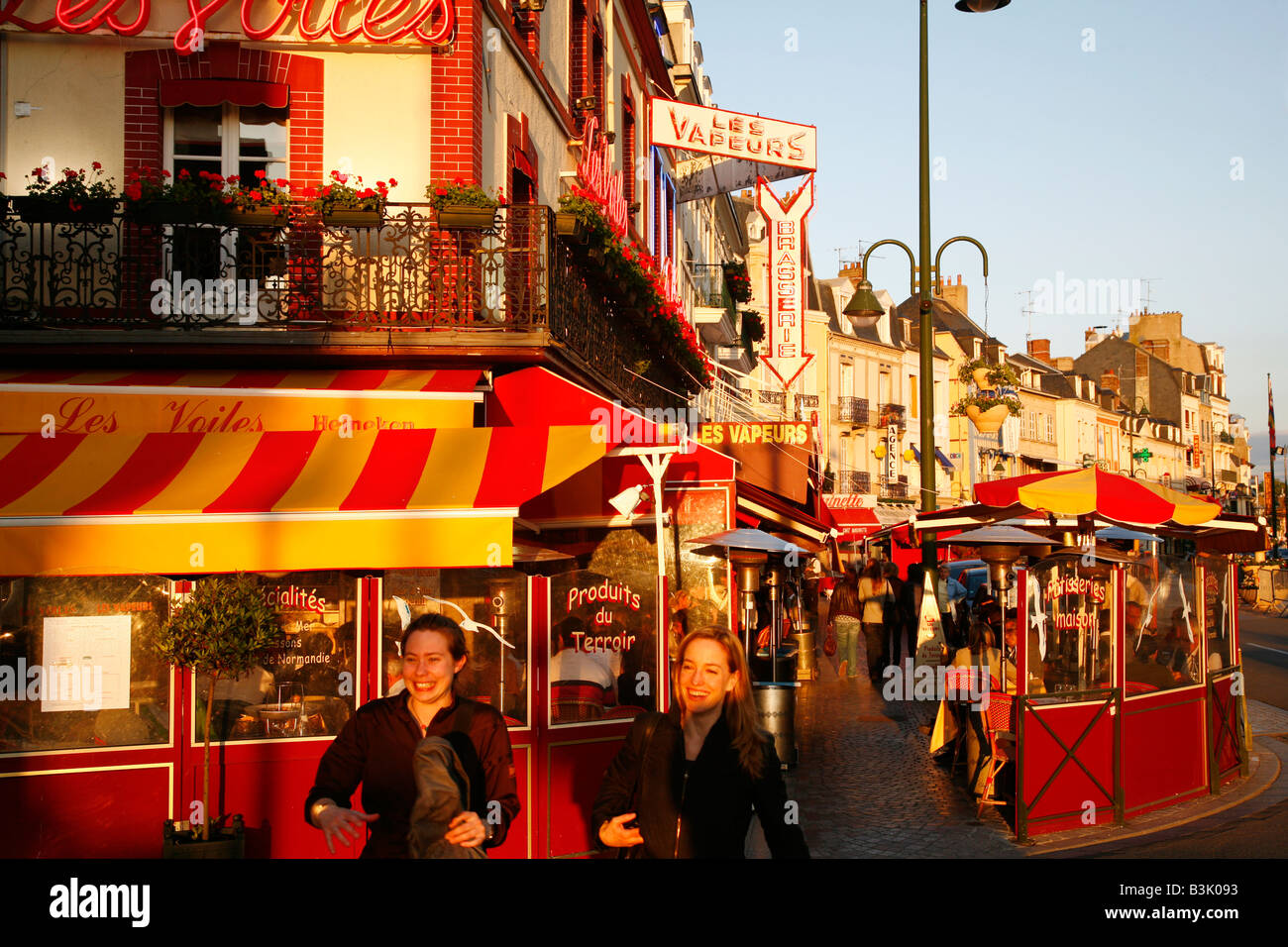 July 2008 - Street scene in Trouville Normandy France - Stock Image