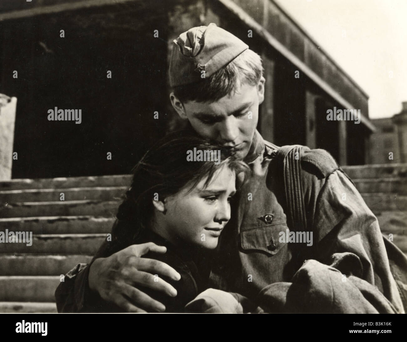 BALLAD OF A SOLDIER  1959 Mosfilm film with Vladimir Ivasherv and Sharma Prokhorenko - Stock Image