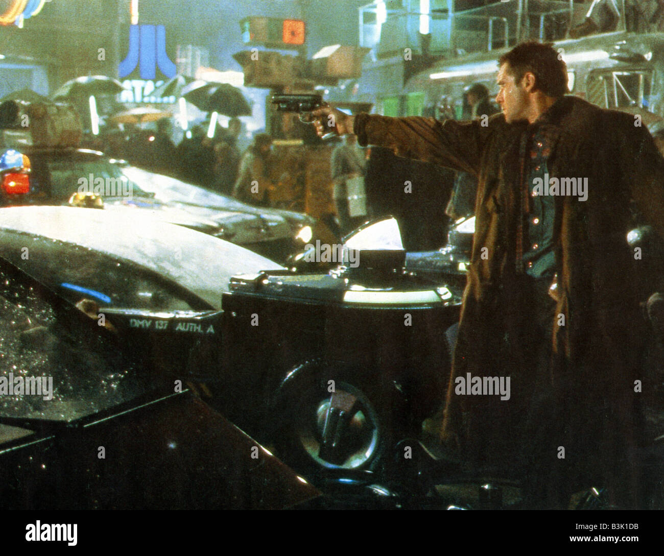 BLADE RUNNER 1982 Warner film with Harrison Ford and directed by Ridley Scott - Stock Image