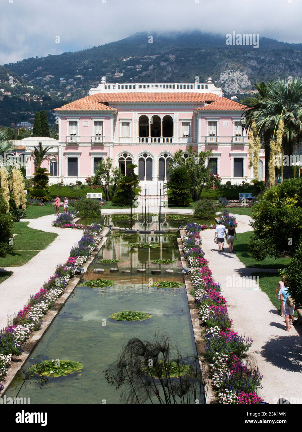 The Gardens and Villa of Ephrussi de Rothschild on Cap Ferrat near Nice, Cote d Azur Provence of France Stock Photo