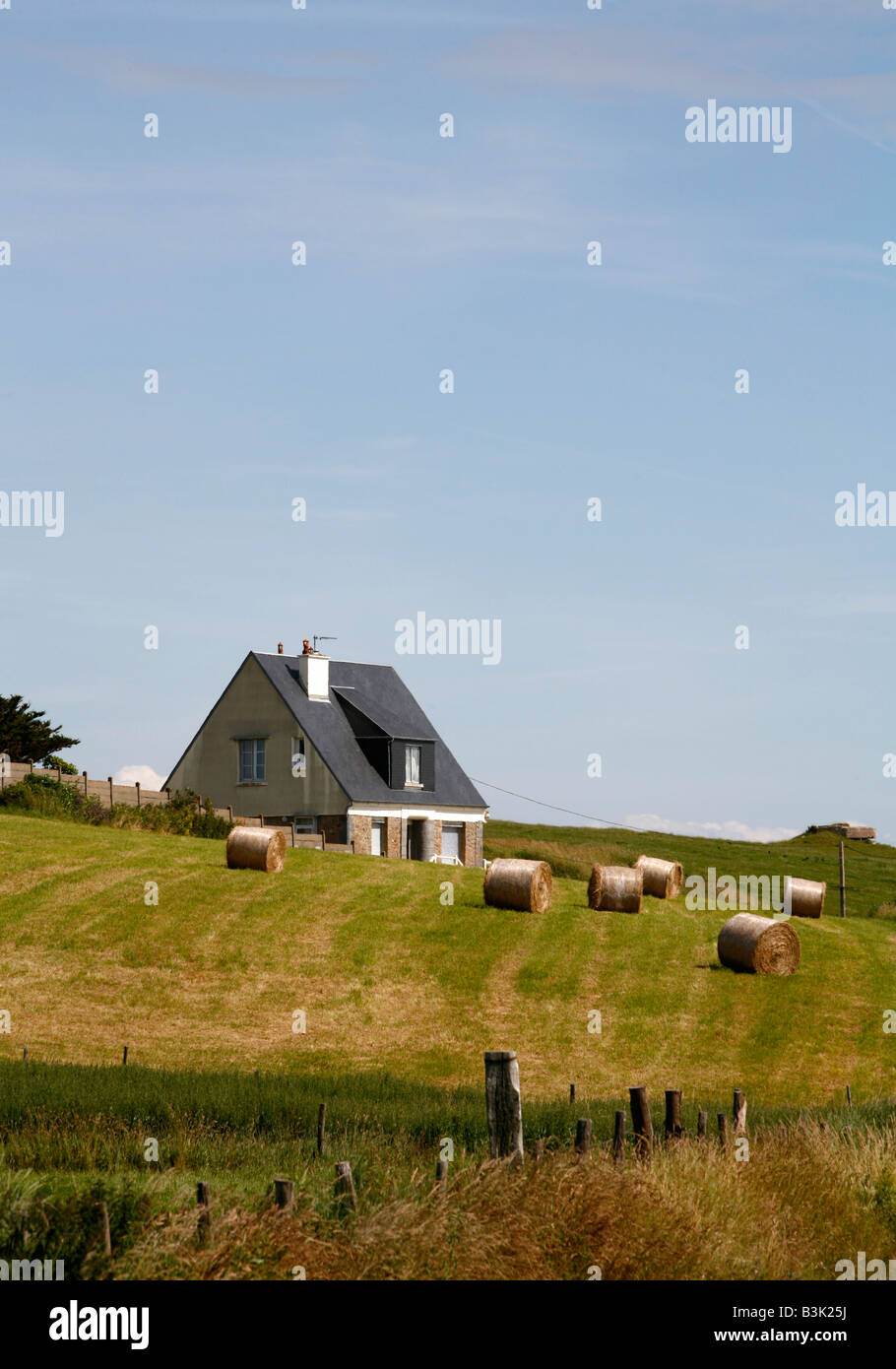 July 2008 - Farm House Normandy France - Stock Image