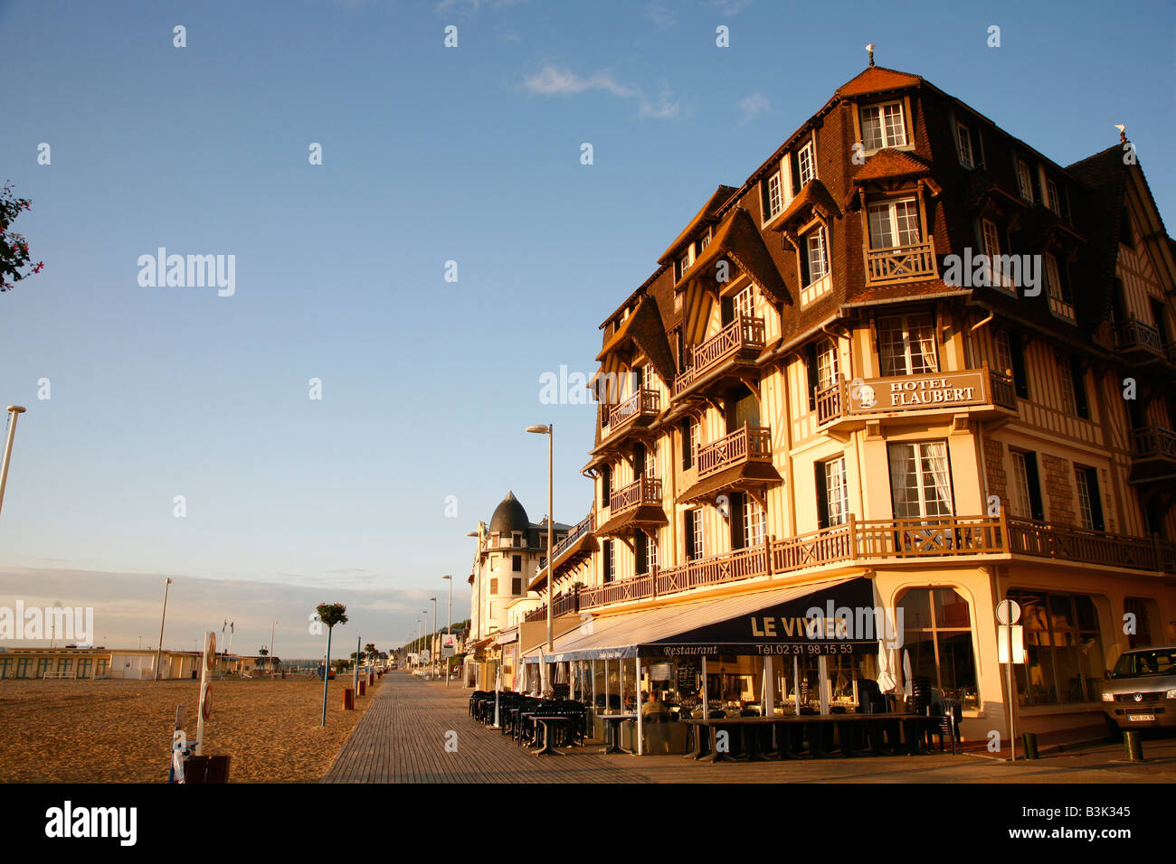 July 2008 - Sea side Trouville Normandy France - Stock Image