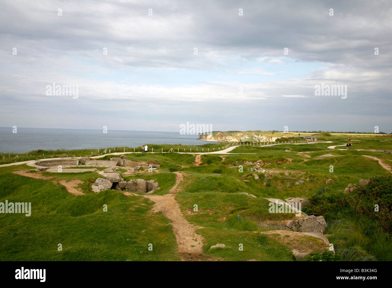 July 2008 - Pointe du Hoc D day beach Normandy France - Stock Image