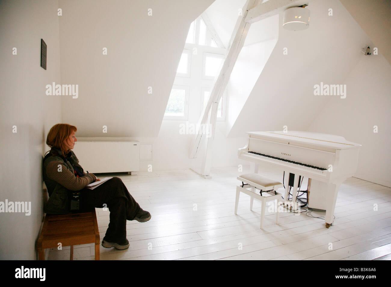 July 2008 - Les Maisons Satie were composer Erik Satie lived Normandy France - Stock Image