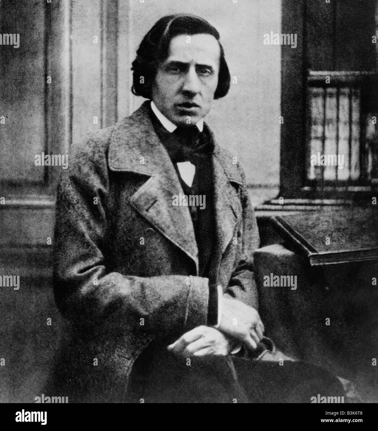 FREDERICK CHOPIN  (1810-1849) Polish composer photographed in 1849 - Stock Image