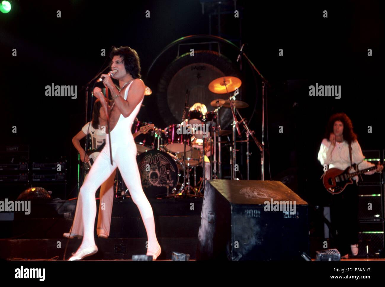 QUEEN  UK rock group in 1977 - Stock Image