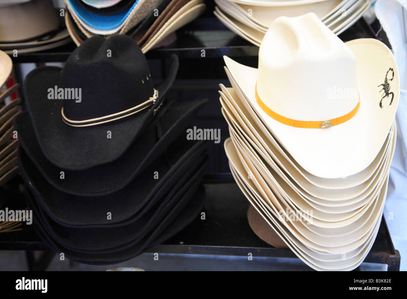 Cowboy hats for sale in Market in Mexico City Stock Photo  19477766 ... 67cfcb46085
