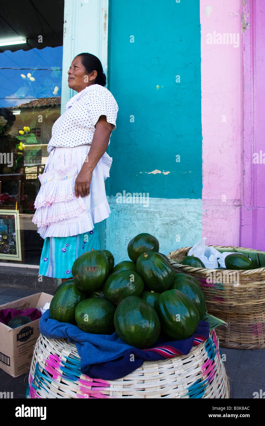 An unidentified vegetable is sold in front of the market in Granada Nicaragua - Stock Image