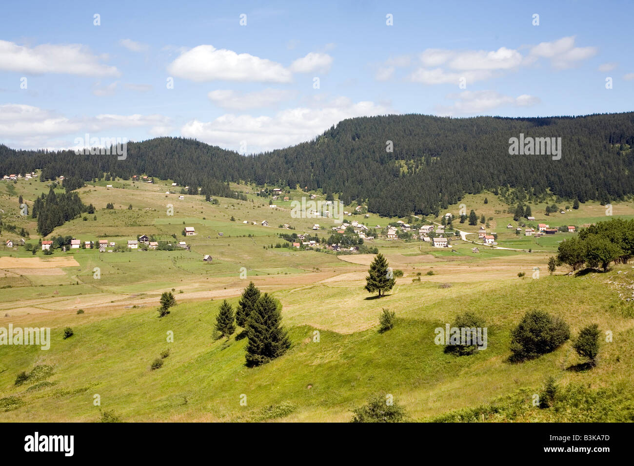 Koricani village on Vlasic Mountain Bosnia and Herzegovina - Stock Image