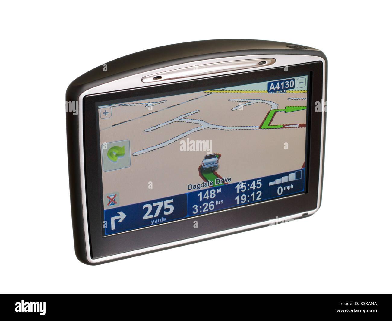 Satellite navigator GPS navigation Sat Nav - Stock Image