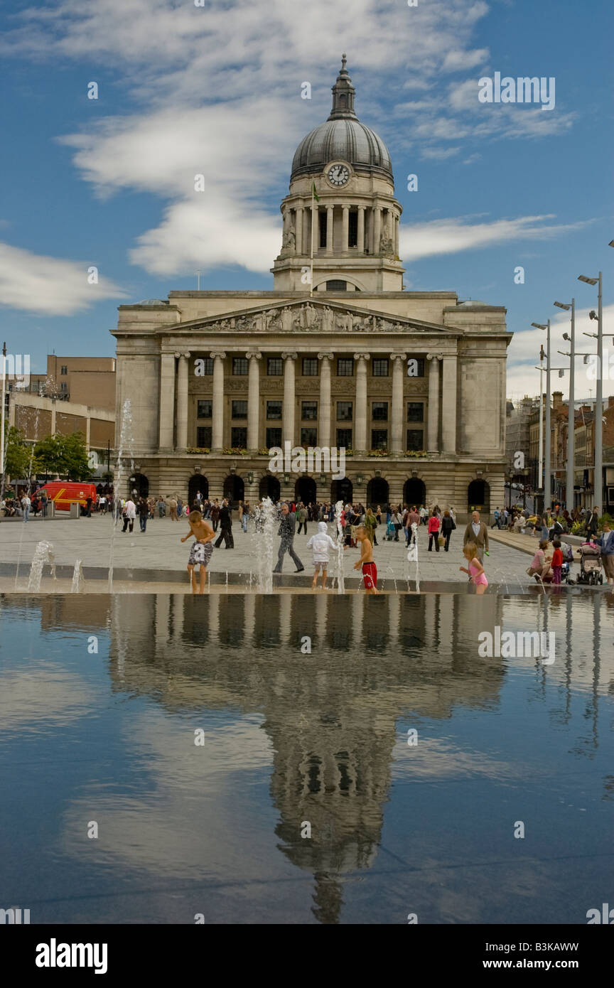 Nottingham City Hall, Nottingham, England. - Stock Image