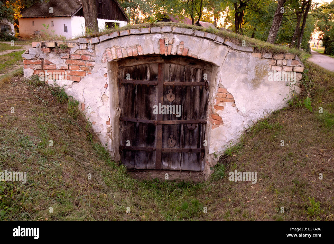 Wine cellar, 'Press Haus' or 'wine press house' in Austria - Stock Image