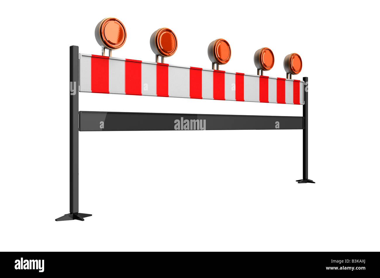 Traffic barrier roadblock barricade - Stock Image