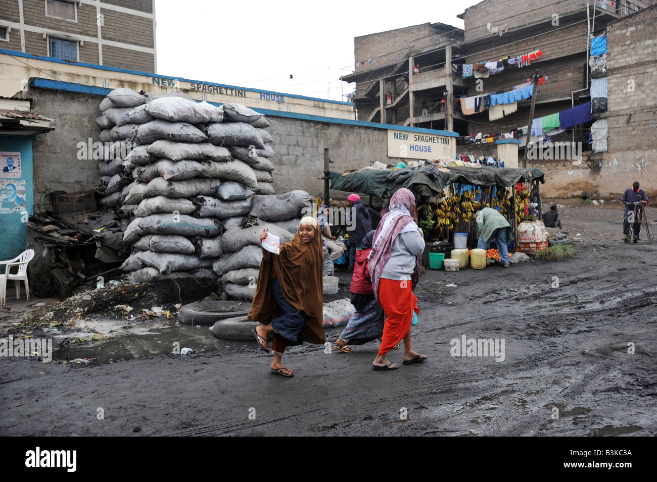 The Somali suburb of Eastleigh in Nairobi Kenya 6 7 2008 - Stock Image