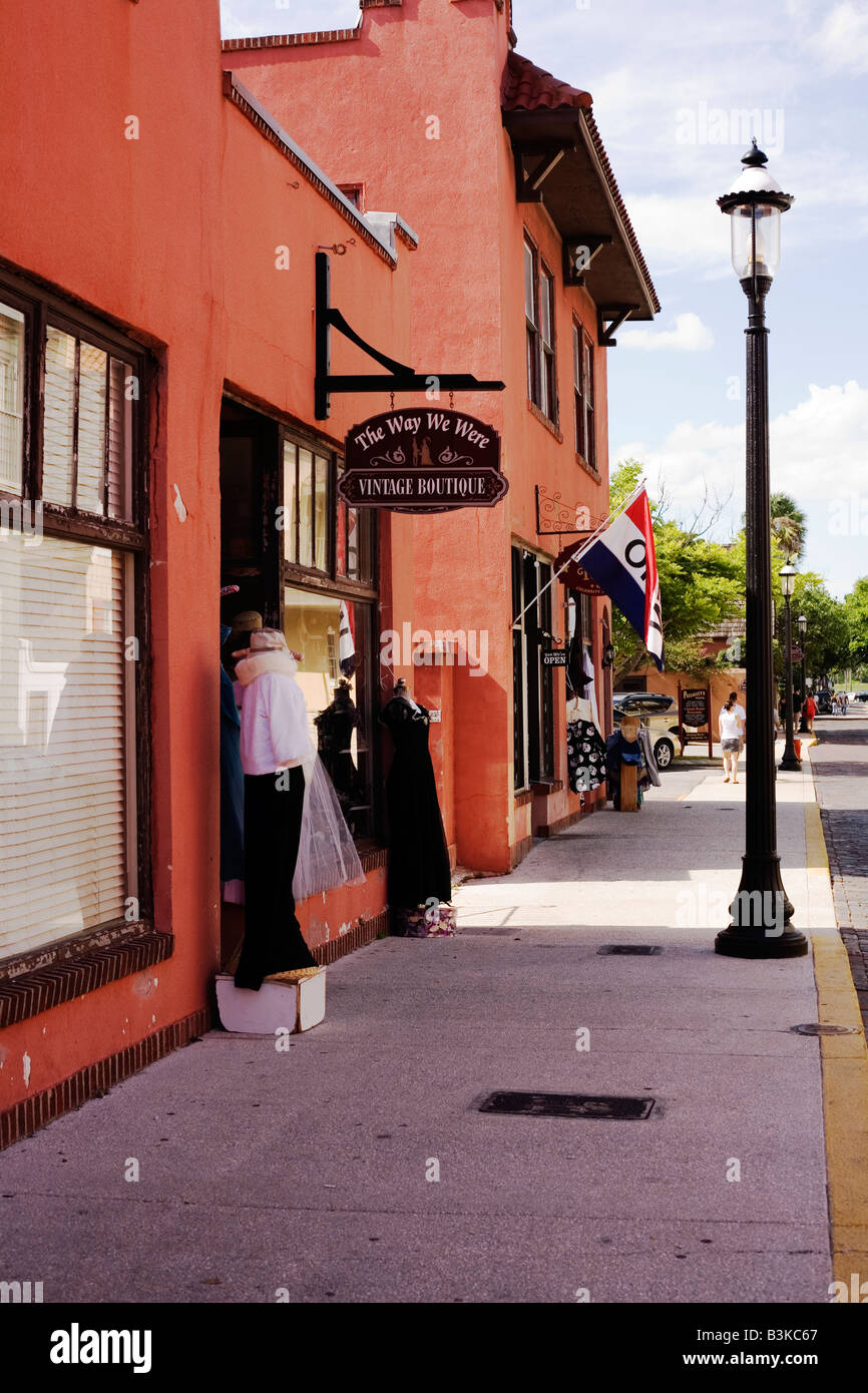 13b695bbd Shops on Charlotte Street in Historic Downtown St Augustine Florida - Stock  Image