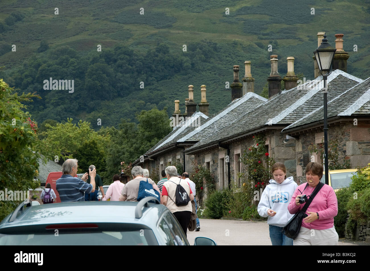 Village of Luss, Loch Lomond - Stock Image