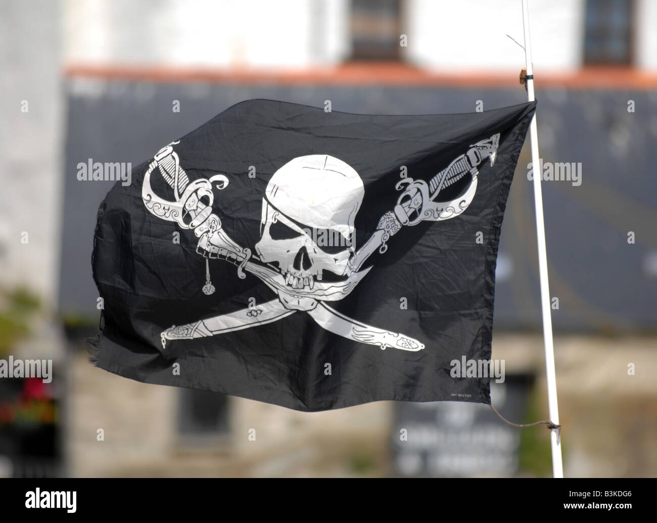 Pirate flag - Stock Image