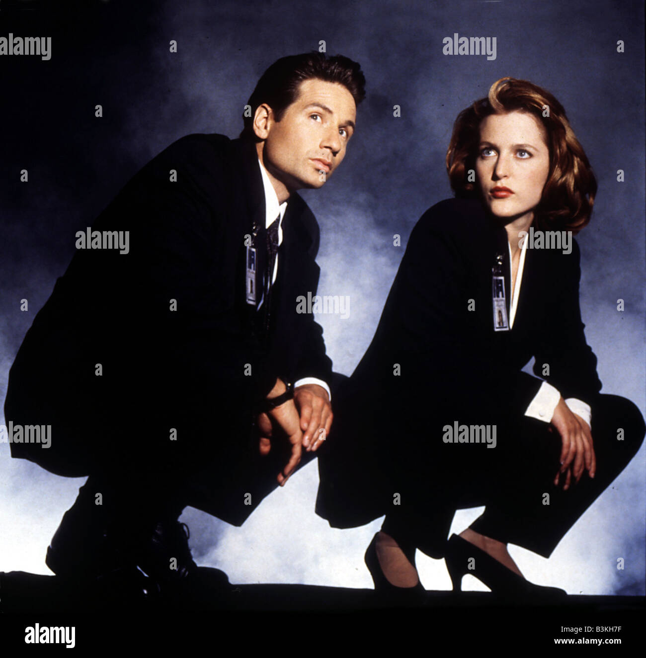 X FILES  US TV series 1993 to 2002 with David Duchovny and Gillian Anderson Stock Photo