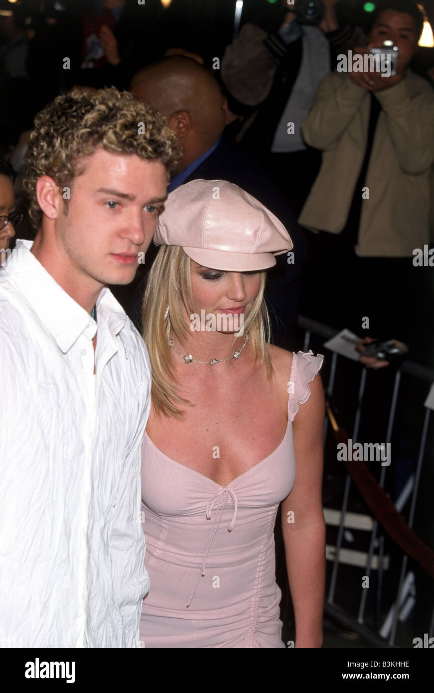 Britney Spears Us Pop Singer And Justin Timberlake In 2002 Stock Photo Alamy
