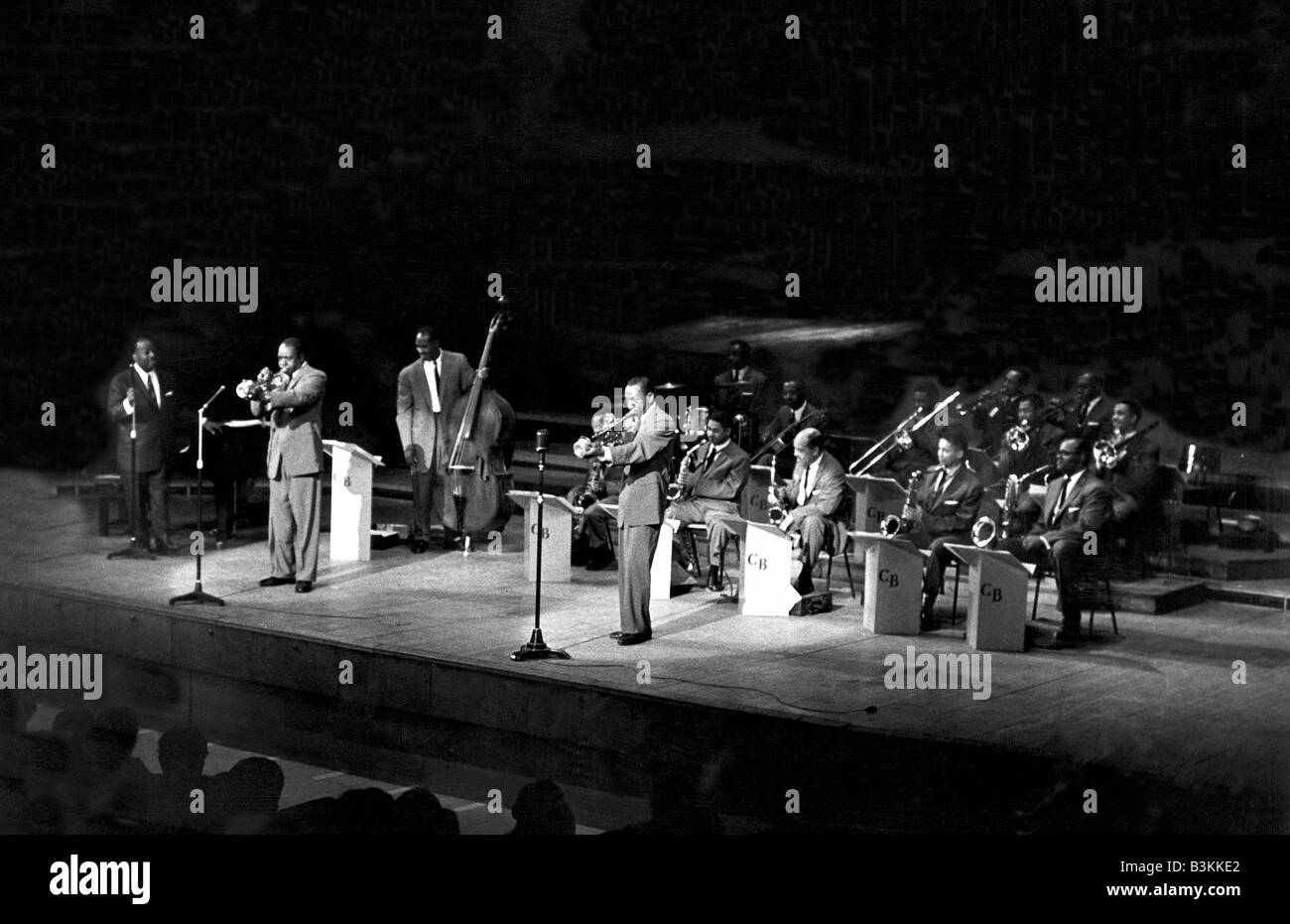 COUNT BASIE and his Orchestra in 1958 - Stock Image