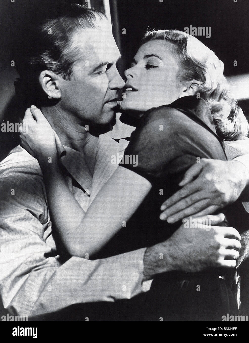 REAR WINDOW 1954 Paramount film directed by Alfred Hitchcock with ames Stewart and Grace Kelly - Stock Image