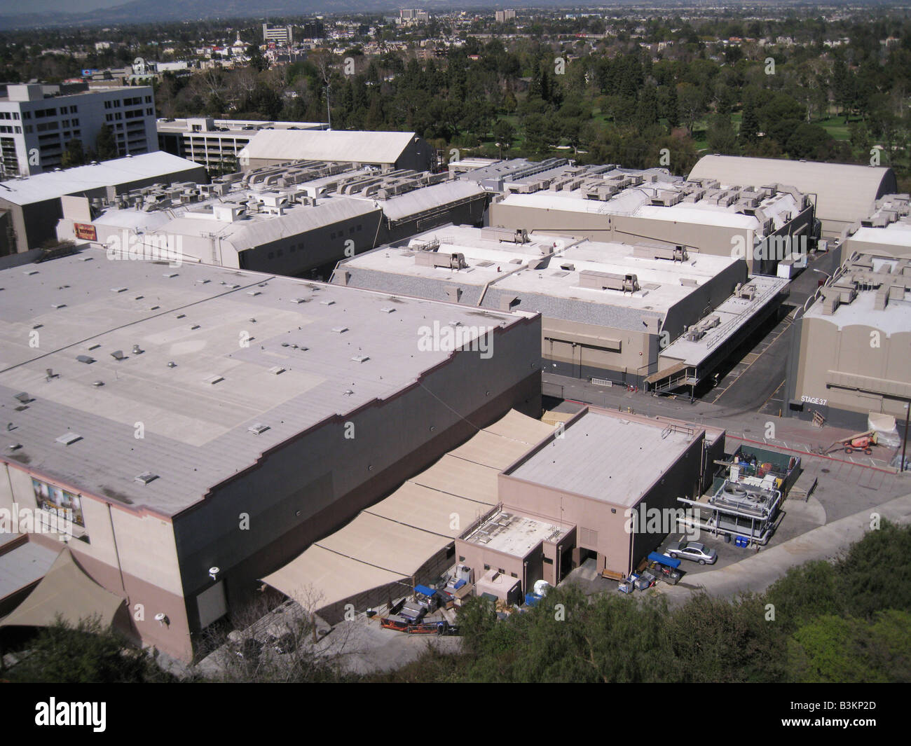 UNIVERSAL STUDIOS, Hollywood.  The film lot at the back of the site. - Stock Image