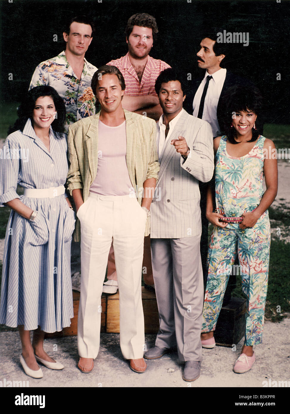 289692631e901 MIAMI VICE US TV series with Don Johnson (in white trousers) and ...