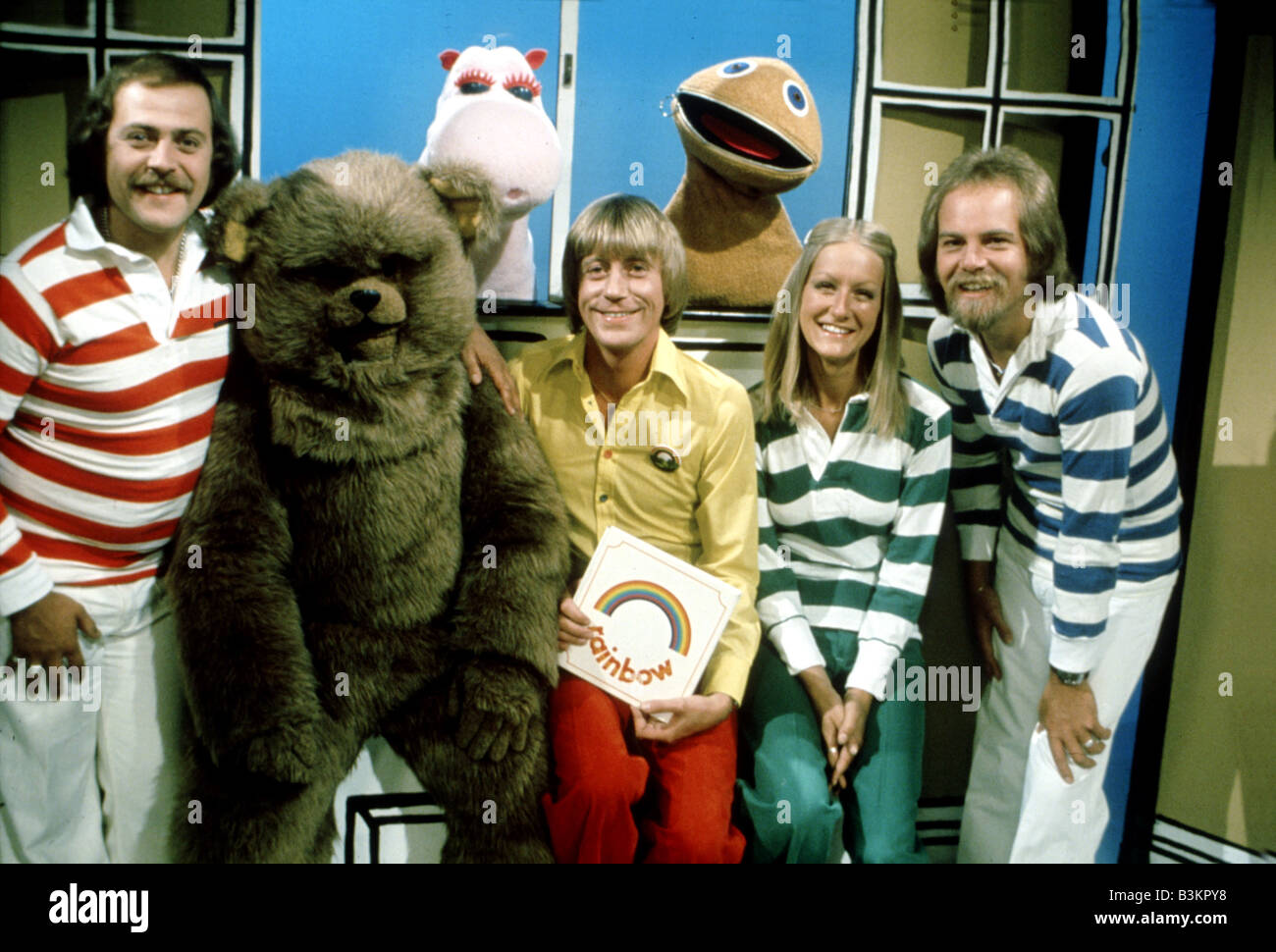RAINBOW  UK TV childrens programme on UK ITV from 1972 to 1992 - see Description below for names Stock Photo