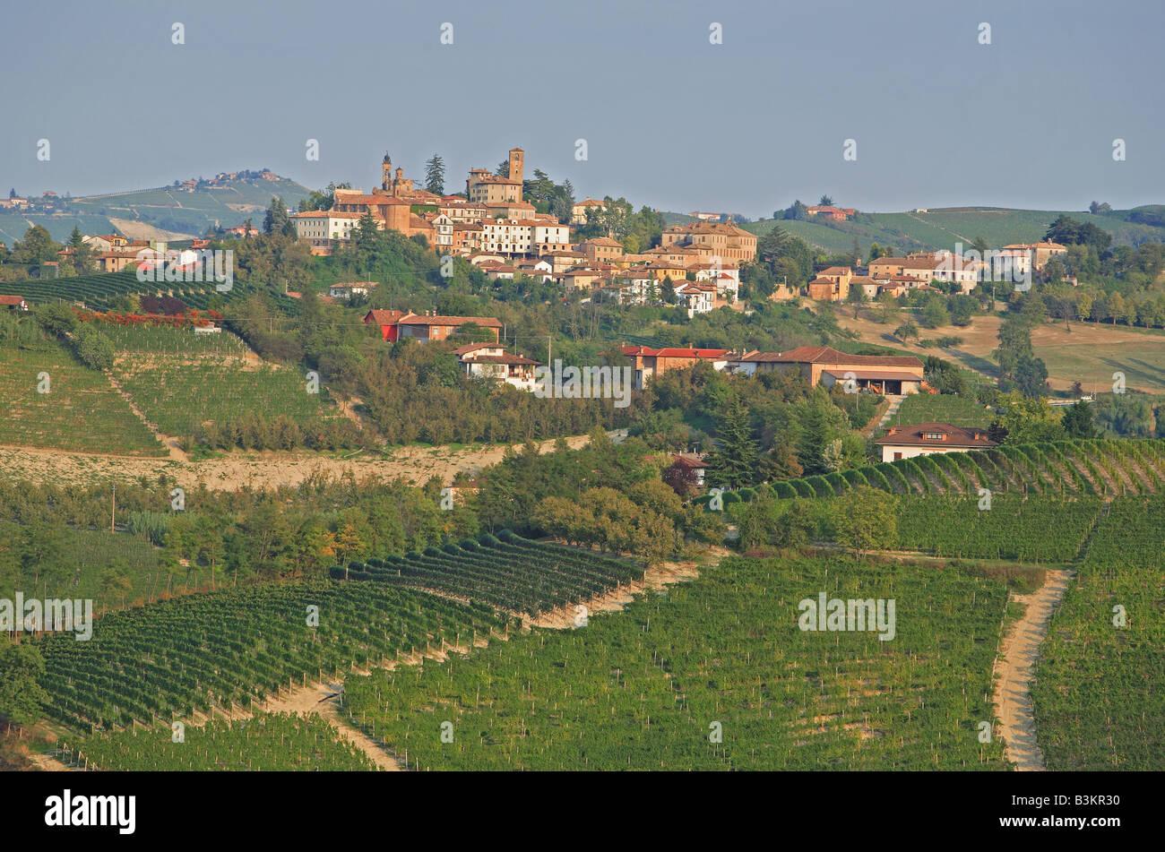 scenic near Bra Piemont Italy - Stock Image