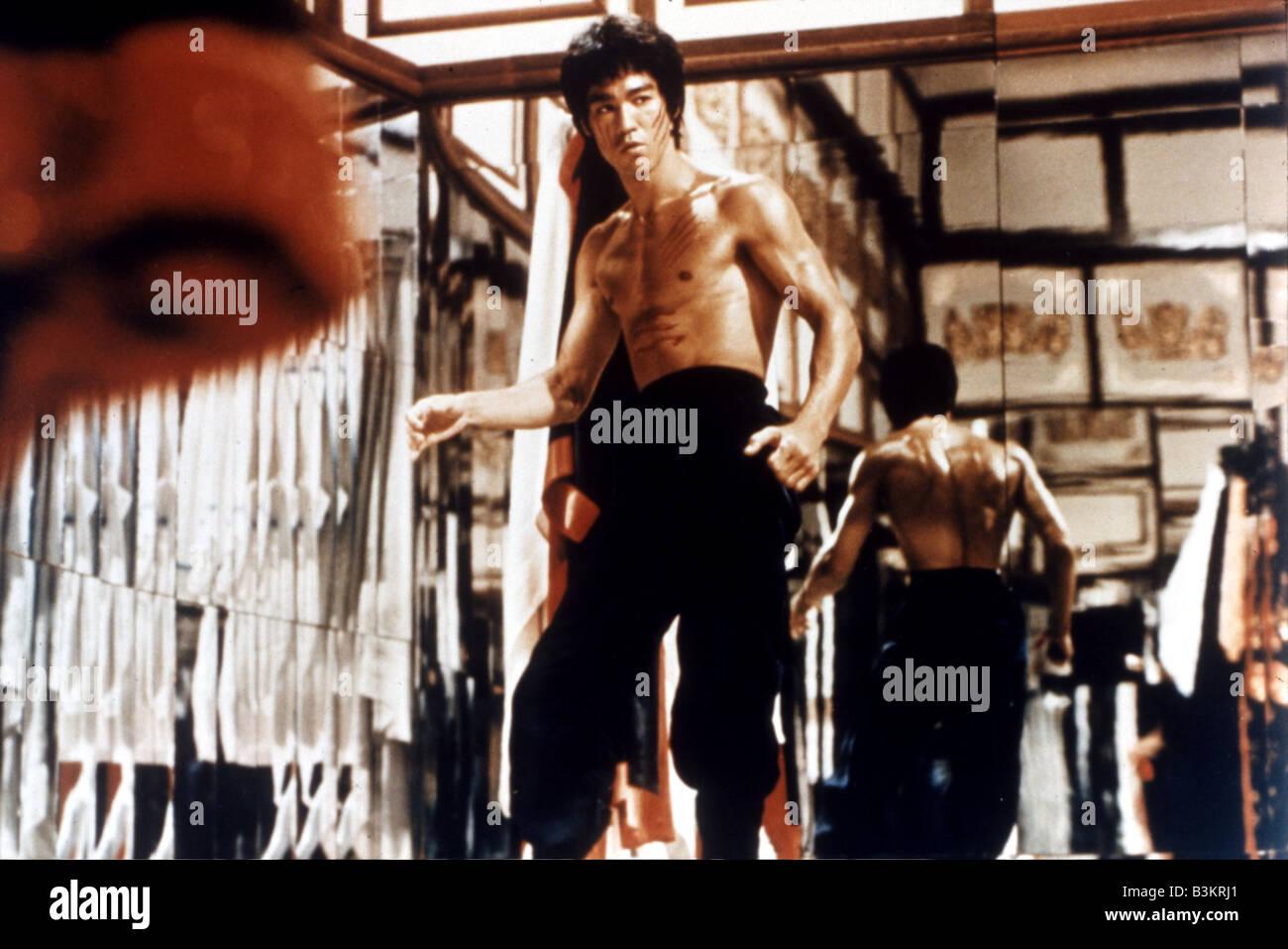 BRUCE LEE  Hong Kong martial arts film actor - Stock Image