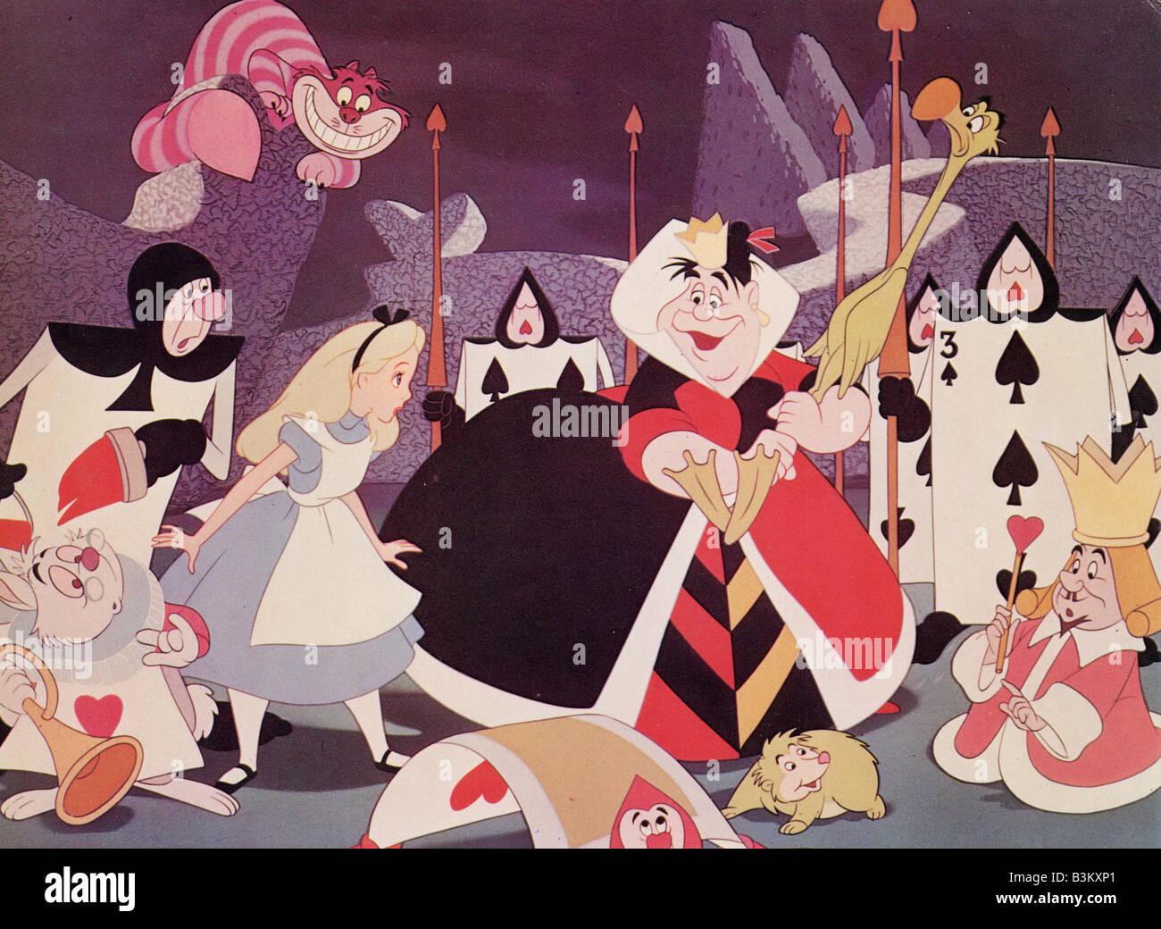 ALICE IN WONDERLAND  1951 Walt Disney cartoon - NB Walt Disney must be credited - Stock Image