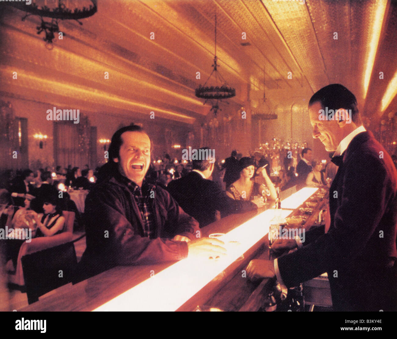 THE SHINING 1980 Warner film with Jack Nicholson at left - Stock Image