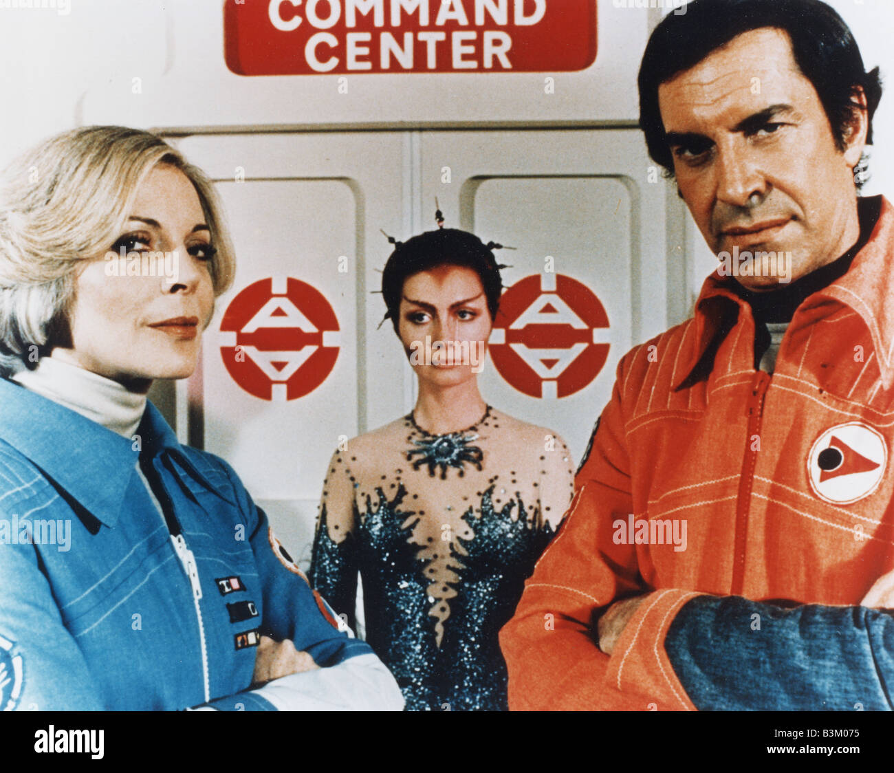 SPACE 1999  UK TV series running from 1975 to 1979 with Barbara Bain at left and Martin Landau Stock Photo